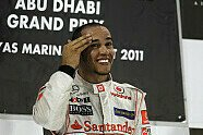 Podium - Formel 1 2011, Abu Dhabi GP, Abu Dhabi, Bild: McLaren