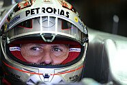 Michael Schumacher Platin-Helm - Formel 1 2012, Belgien GP, Spa-Francorchamps, Bild: Sutton