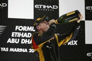 Podium - Formel 1 2012, Abu Dhabi GP, Abu Dhabi, Bild: Lotus F1 Team