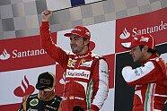 Podium - Formel 1 2013, Spanien GP, Barcelona, Bild: Ferrari