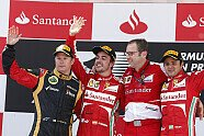 Podium - Formel 1 2013, Spanien GP, Barcelona, Bild: Lotus F1 Team