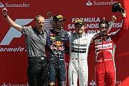 Podium - Formel 1 2013, Großbritannien GP, Silverstone, Bild: Sutton