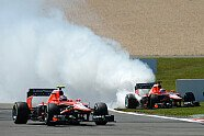 Feuer & Geisterfahrt bei Bianchi - Formel 1 2013, Deutschland GP, Nürburg, Bild: Sutton