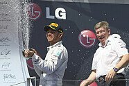 Podium - Formel 1 2013, Ungarn GP, Budapest, Bild: Mercedes AMG