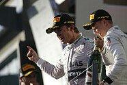 Podium - Formel 1 2014, Australien GP, Melbourne, Bild: Mercedes AMG
