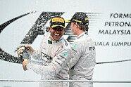 Podium - Formel 1 2014, Malaysia GP, Sepang, Bild: Sutton