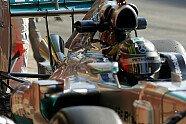 Der neue Mercedes-Auspuff - Formel 1 2014, Testfahrten, Barcelona, Barcelona, Bild: Sutton
