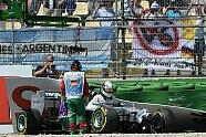 Hamilton-Unfall - Formel 1 2014, Deutschland GP, Hockenheim, Bild: Sutton