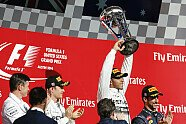 Podium - Formel 1 2014, US GP, Austin, Bild: Mercedes AMG