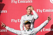 Podium - Formel 1 2014, US GP, Austin, Bild: Mercedes-Benz