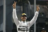 Podium - Formel 1 2014, Abu Dhabi GP, Abu Dhabi, Bild: Mercedes-Benz