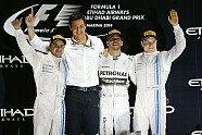 Podium - Formel 1 2014, Abu Dhabi GP, Abu Dhabi, Bild: Mercedes AMG