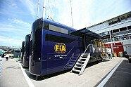 Motorhomes in Barcelona - Formel 1 2015, Spanien GP, Barcelona, Bild: Sutton