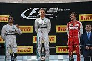 Podium - Formel 1 2015, Spanien GP, Barcelona, Bild: Ferrari
