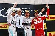Podium - Formel 1 2015, Spanien GP, Barcelona, Bild: Mercedes-Benz
