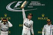 Podium - Formel 1 2015, Österreich GP, Spielberg, Bild: Sutton