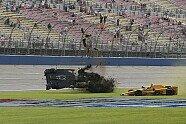 Briscoe-Unfall - IndyCar 2015, Fontana, Fontana, Kalifornien, Bild: IndyCar