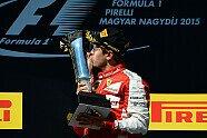 Podium - Formel 1 2015, Ungarn GP, Budapest, Bild: Ferrari