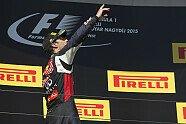 Podium - Formel 1 2015, Ungarn GP, Budapest, Bild: Sutton