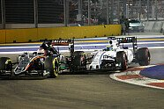Unfall Hülkenberg/Massa - Formel 1 2015, Singapur GP, Singapur, Bild: Sutton