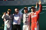 Podium - Formel 1 2016, Australien GP, Melbourne, Bild: Sutton