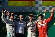 Podium - Formel 1 2016, Australien GP, Melbourne, Bild: Ferrari