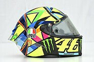 Valentino Rossis Helm für die MotoGP-Saison 2016 - MotoGP 2016, Präsentationen, Katar GP, Losail, Bild: Milagro