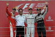 Podium - Formel 1 2016, Europa GP, Baku, Bild: Ferrari