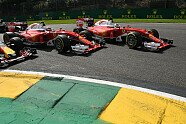Unfall: Verstappen/Räikönen/Vettel - Formel 1 2016, Belgien GP, Spa-Francorchamps, Bild: Sutton