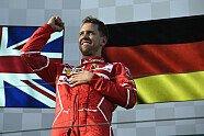 Podium - Formel 1 2017, Australien GP, Melbourne, Bild: Ferrari