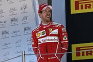 Podium - Formel 1 2017, Spanien GP, Barcelona, Bild: Ferrari