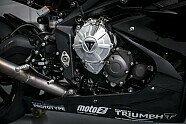 Triumph: Erster Test des neuen Moto2-Motors in Aragon - Moto2 2017, Testfahrten, Bild: Triumph