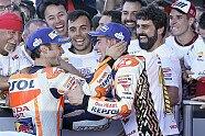 So feiert Marc Marquez seinen MotoGP-Titelgewinn 2017 - MotoGP 2017, Valencia GP, Valencia, Bild: HRC