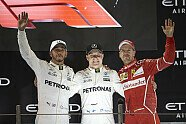 Podium - Formel 1 2017, Abu Dhabi GP, Abu Dhabi, Bild: Mercedes-Benz