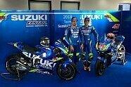 Suzukis MotoGP-Bike für die Saison 2018 - MotoGP 2018, Präsentationen, Bild: MotoGP/Twitter
