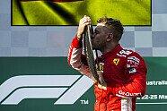Podium - Formel 1 2018, Australien GP, Melbourne, Bild: Ferrari