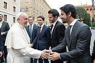 Formel E: Papst Franziskus gibt seinen Segen vor dem Rom ePrix - Formel E 2018, Verschiedenes, Bild: Audi Sport