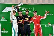 Podium - Formel 1 2018, China GP, Shanghai, Bild: Sutton