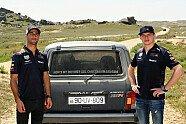 Ricciardo und Verstappen im Lada Niva - Formel 1 2018, Verschiedenes, Aserbaidschan GP, Baku, Bild: Red Bull