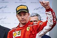 Podium - Formel 1 2018, Aserbaidschan GP, Baku, Bild: Ferrari
