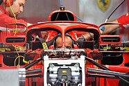 Winglet-Spiegel am Halo bei Ferrari - Formel 1 2018, Spanien GP, Barcelona, Bild: Sutton