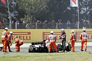 Startcrash: Grosjean, Hülkenberg, Gasly - Formel 1 2018, Spanien GP, Barcelona, Bild: Sutton