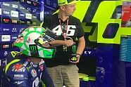 MotoGP: Valentino Rossis Helm für Mugello 2018 - MotoGP 2018, Italien GP, Mugello, Bild: Twitter/Yamaha