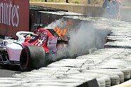 Feuer-Unfall Marcus Ericsson - Formel 1 2018, Frankreich GP, Le Castellet, Bild: Sutton