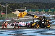 Crash-Orgie in Runde 1 - Formel 1 2018, Frankreich GP, Le Castellet, Bild: Sutton
