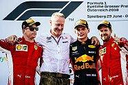 Podium - Formel 1 2018, Österreich GP, Spielberg, Bild: Ferrari