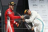 Podium - Formel 1 2018, Großbritannien GP, Silverstone, Bild: Sutton
