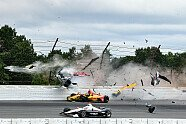 IndyCar: Horror-Unfall von Robert Wickens in Pocono - IndyCar 2018, Pocono, Long Pond, Pennsylvania, Bild: LAT Images