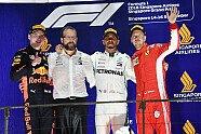 Podium - Formel 1 2018, Singapur GP, Singapur, Bild: Sutton