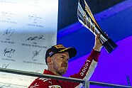 Podium - Formel 1 2018, Singapur GP, Singapur, Bild: Ferrari
